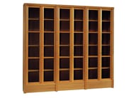 Wood and glass bookcase BIBLIOTECA | Bookcase - Morelato