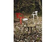 Stackable stainless steel chair with armrests T14 | Stainless steel chair - Tolix Steel Design