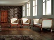 Fabric armchair with armrests BIEDERMEIER | Armchair - Morelato