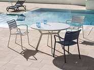 Stackable aluminium garden chair with armrests OCEAN | Garden chair with armrests - Ethimo
