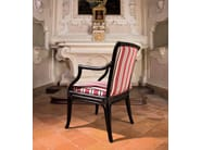 Upholstered rattan chair with armrests CLAUDIA - Dolcefarniente by DFN