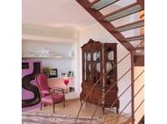 Baroque wooden highboard AMSTERDAM - SELVA