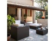 Square resin garden pouf BAHIA | Garden pouf - Dolcefarniente by DFN