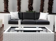3 seater resin garden sofa BAHIA | 3 seater sofa - Dolcefarniente by DFN