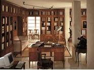 Sectional modular cherry wood bookcase DIRETTORIO | Sectional bookcase - Morelato