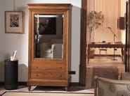 Cherry wood wardrobe with 1 door with drawers LUIGI FILIPPO | Wardrobe - Morelato