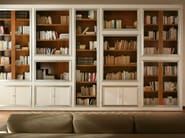 Sectional cherry wood bookcase MASCHERA | Cherry wood bookcase - Morelato