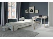 Stackable wooden chair LUNO - Müller Möbelwerkstätten