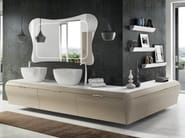 Corner sectional vanity unit with drawers ELEGANT 10 - LASA IDEA