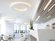 Indirect light semi-inset ceiling lamp USL 900 DISK - FLOS