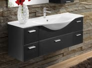 Wenge vanity unit with drawers VANITY 10 - LASA IDEA