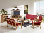 2 seater wooden sofa 1240A | 2 seater sofa - Dyrlund