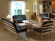 Oval wooden coffee table 9256S | Coffee table - Dyrlund