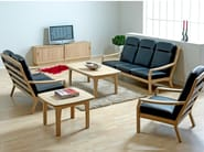 Rectangular wooden coffee table 9258EK | Coffee table - Dyrlund