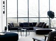 Corner sectional fabric sofa RAY | Sectional sofa - B&B Italia