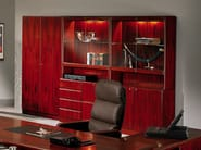 Tall cherry wood office storage unit COMMODORE | Cherry wood office storage unit - Dyrlund