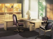 Rosewood executive desk COMMODORE   Rosewood office desk - Dyrlund