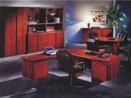 Wooden storage wall / office storage unit APOLLO | Tall office storage unit - Dyrlund
