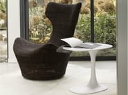 Swivel high-back rope armchair GRANDE PAPILIO | Natural fibre armchair - B&B Italia