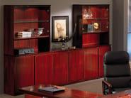 Wooden storage wall / office storage unit CONCORDE | Tall office storage unit - Dyrlund