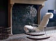 Rocking leather armchair with armrests J.J.   Fur armchair - B&B Italia