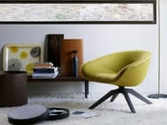 Upholstered trestle-based fabric armchair MART 2012 - B&B Italia