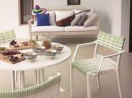 Round steel garden table INJOY | Round table - Dedon