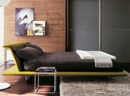 Fabric double bed with upholstered headboard SIENA - B&B Italia