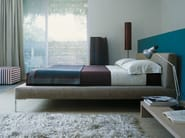 Fabric double bed with upholstered headboard CHARLES | Bed - B&B Italia