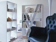 Open double-sided Corian® bookcase SHELF - B&B Italia