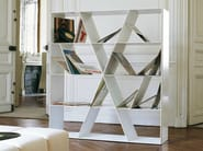 Open double-sided Corian® bookcase SHELF X - B&B Italia