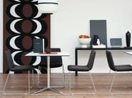 Sled base upholstered stackable fabric chair COSMOS | Stackable chair - B&B Italia Project, a brand of B&B Italia Spa