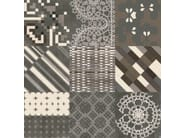 Glazed stoneware wall/floor tiles AZULEJ NERO FLORES - MUTINA