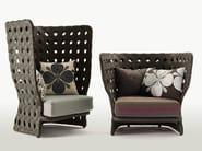 Polyethylene garden armchair CANASTA | Garden armchair - B&B Italia Outdoor, a brand of B&B Italia Spa