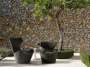 High-back polyethylene garden armchair with footstool GRANDE PAPILIO - B&B Italia Outdoor, a brand of B&B Italia Spa