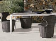 Plastic garden chair with armrests MINI PAPILIO - B&B Italia Outdoor, a brand of B&B Italia Spa