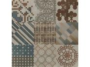Glazed stoneware wall/floor tiles AZULEJ GRIGIO FLORES - MUTINA