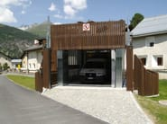 Motorized Sliding wooden gate Wooden gate - CARMEC