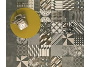 Glazed stoneware wall/floor tiles AZULEJ NERO TREVO - MUTINA