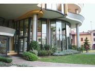 Exterior glass and aluminium entry door 77 ID - ALUK Group