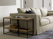 Rectangular steel and wood coffee table LITHOS | Rectangular coffee table - Maxalto, a brand of B&B Italia Spa
