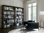 Open sectional modular solid wood bookcase BIBLIA - Maxalto, a brand of B&B Italia Spa