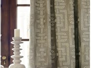 Embroidered fabric with graphic pattern DOMINOS - Zimmer + Rohde