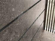 Antracite bocciardato - Listello Vetro Nero