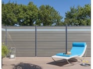 Engineered wood garden partition FENCING BOARD - Silvadec
