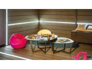 Engineered wood garden partition with light LED FENCING BOARD - Silvadec