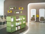 Open sectional modular aluminium bookcase BRERA | Bookcase - altreforme