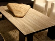 Rectangular oak coffee table for living room CANADA | Coffee table - Ph Collection