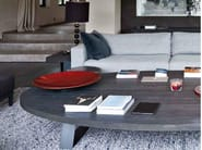Oval oak coffee table for living room TREVISE | Coffee table - Ph Collection