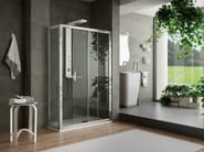 Rectangular shower cabin with tray VIRGO | Shower cabin with sliding door - ARBLU